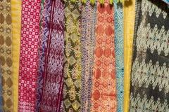 Batik indonesian silk cotton fabric tissue for sale Stock Image
