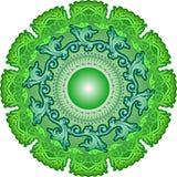Batik Indonesien för abstrakt begrepp för cirkelräkningsgräsplan Arkivbild