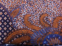 Batik, Indonezja Tradycyjna tkanina Obraz Royalty Free