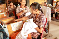 Batik making in Bali Stock Photography