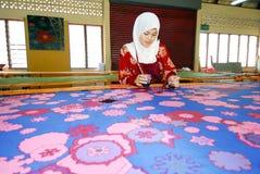 Batik malaisien photographie stock