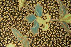 Batik med blom- modeller Royaltyfria Bilder