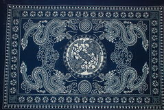 Batik painting. China ethnic Hmong batik painting Stock Photo