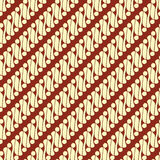 Batik Parang. Is one of most popular pattern from Java Indonesia royalty free illustration