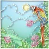 Batik parrot Stock Photo