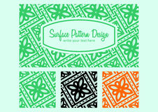 Batik pattern design stock images