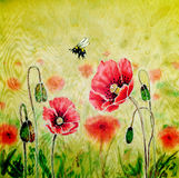 Batik Poppy Royalty Free Stock Images