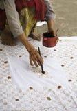Batik process Royalty Free Stock Images