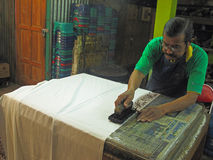 Batik production Royalty Free Stock Photos