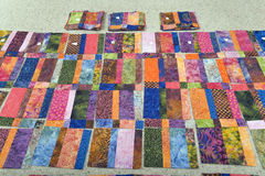 Batik Quilt Top Stock Images