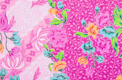 Batik sarong pattern background in Thailand. Stock Photo