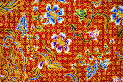 Batik sarong  pattern background in Thailand, traditional batik Royalty Free Stock Images