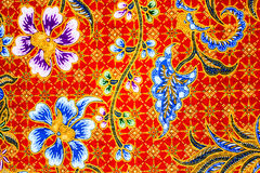 Batik sarong  pattern background in Thailand, traditional batik Stock Photos