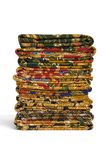 Batik Sarongs. Isolated image of a stack of Batik Sarongs Stock Images