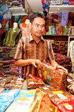 Batik Seller Bandung Indonesia 2011 Royalty Free Stock Photography