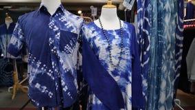 Batik shirt and baju kurung. Colorful hand dyed batik shirt clothing for sale Royalty Free Stock Photos