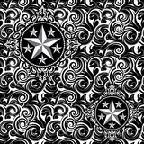 Batik star seamless pattern Stock Images