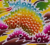 Batik style fabric Royalty Free Stock Photo