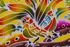 Batik style fabric Royalty Free Stock Photography