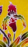 Batik style fabric Stock Images