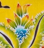 Batik style fabric Stock Image