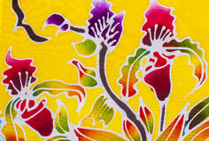 Batik style fabric Royalty Free Stock Photography
