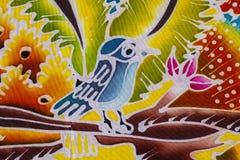 Batik style fabric Royalty Free Stock Image