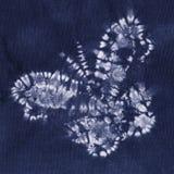 Batik teint par matériel Images stock