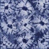 Batik teint par matériel Shibori Images libres de droits
