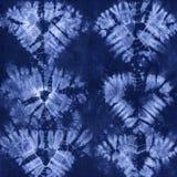 Batik teint par matériel Shibori Image libre de droits