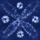 Batik teint par matériel Shibori Photo stock