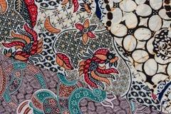 Batik. Three sample modern batik fabric pattern royalty free stock photography