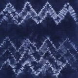 Batik tingido material Shibori Foto de Stock