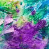 Batik vert, bleu et lilas peint à la main de nodosa Images stock