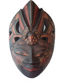 Batik Wooden mask souvenir on white backgroud Royalty Free Stock Photo