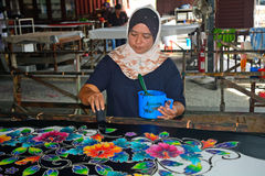 Batik workshop, Penang, Malaysia Stock Photography