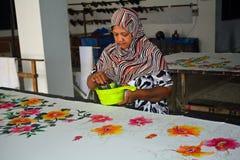 Batik workshop, Penang, Malaysia Stock Images