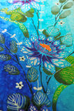 Batikart-Blumengewebe lizenzfreie stockfotos