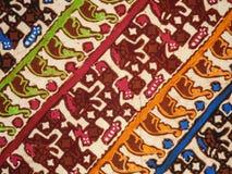 Batikbeschaffenheit und -muster Lizenzfreies Stockfoto