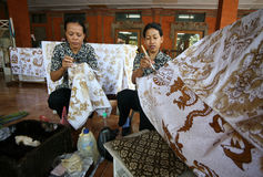 batikfabrik royaltyfria foton