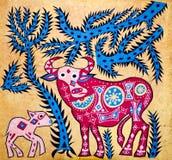 batikgarnering royaltyfri illustrationer