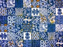 Batikgewebe-Zusammenfassungsmuster Stockfoto