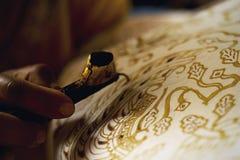 BATIKHANTVERKARE Royaltyfri Fotografi