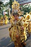 Batikkarneval in solo, Indonesien Arkivfoto