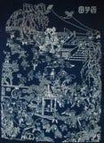 Batikmålning royaltyfria foton