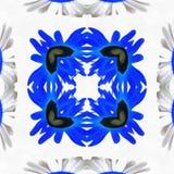 Batikowego kalejdoskopu Plemienny lustro zdjęcie royalty free