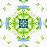 Batikowy Fractal Blossom_1 royalty ilustracja
