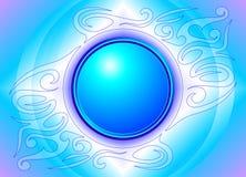 Batikprydnad på blått Royaltyfria Bilder