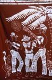 Batikvoorbeeld St Caraïbisch Kitts, royalty-vrije stock afbeelding