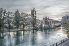 Batiment des Forces motrices in Geneva - Royalty Free Stock Images